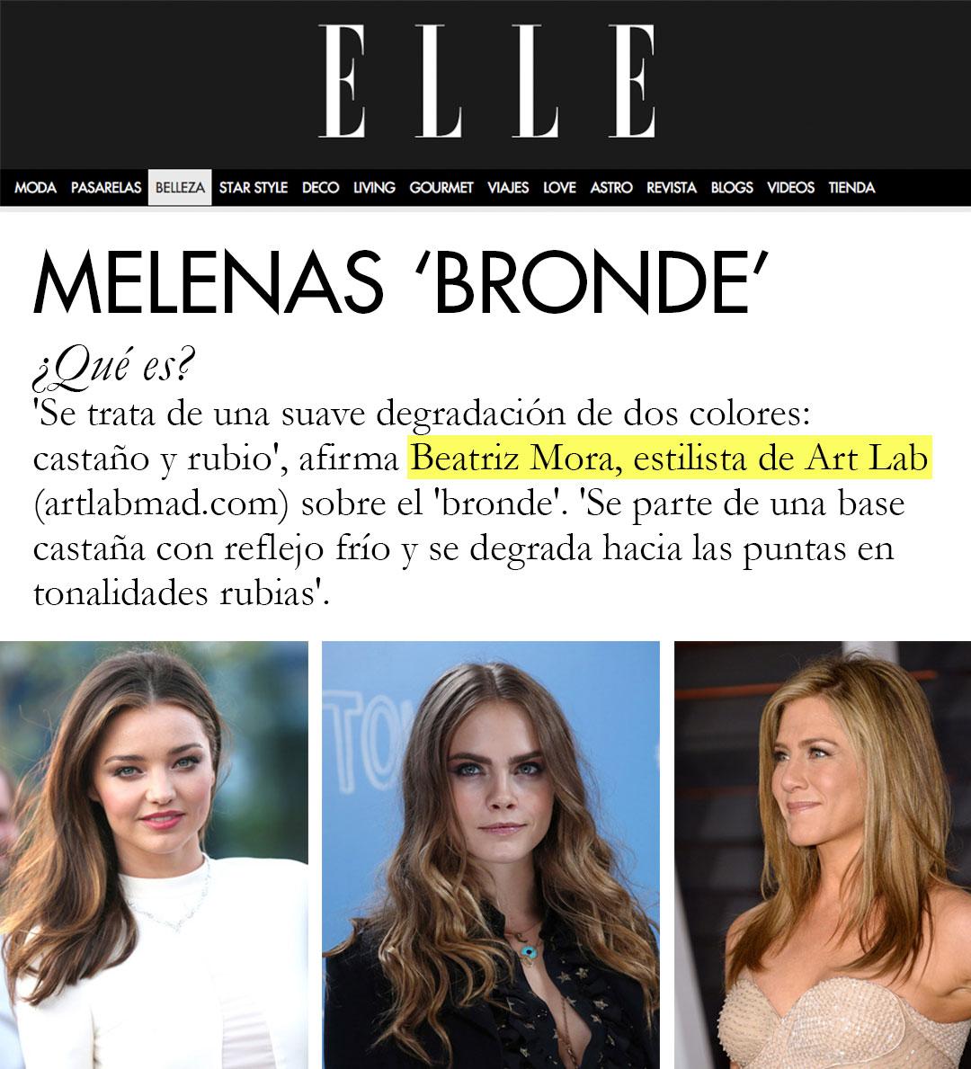 Beatriz Mora sobre Melenas 'Bronde' por ELLE.es