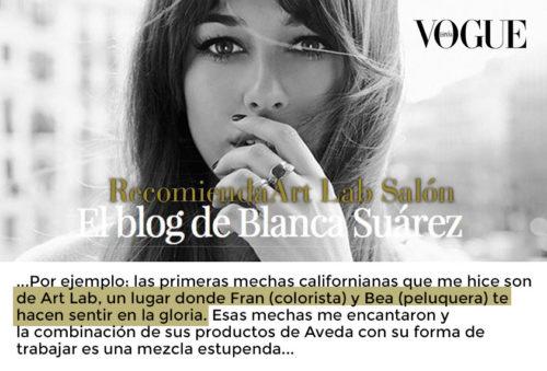 Art Lab en el blog de Blanca Suárez